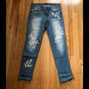 WHBM jeans with embroidered details